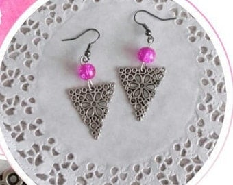 Dangle earrings pierced