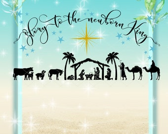 Nativity | Svg | Newborn King | Christmas | Bible | Bible Story | Vector | Clip Art | Instant Download | Cricut | Silhouette | Dxf | Png
