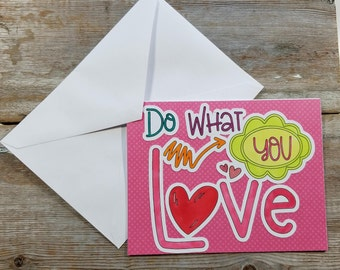 Adult Valentine Card - Do What You Love - Valentine Card for Him - Adult Greeting Card - Naughty Valentine - Adult Funny