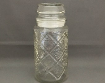 Vintage Smucker's Jam Collectible Jar Canister by Anchor Hocking