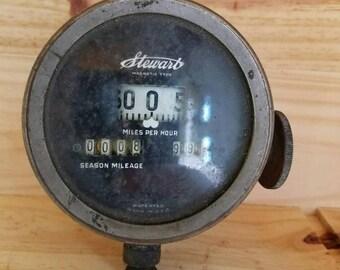 Vintage Stewarts speedometer.