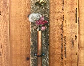 aromatherapy sculpture, speckled brown & light sage