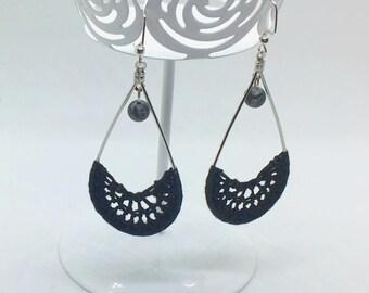 Crochet Earrings, Lacy Drops Earrings
