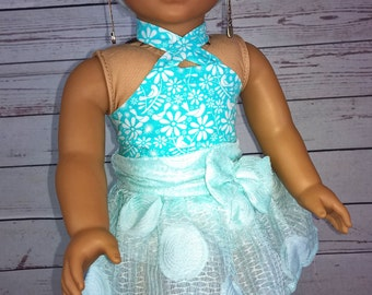 """Custom 10-11"""" Doll Wig Fits Most 18"""" Dolls, Blythe, 1/4 Sized Dolls and More """"Spearmint"""" Heat Safe"""