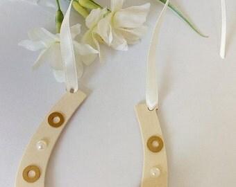 Lucky Wedding Horseshoe Gift for Bride Gift for her keepsake