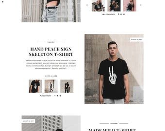 MassDisplay - Responsive Blogger Template with Boxed Post Layout - Minimalist template - Photography Fashion - Premade Theme Blogspot