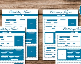 Printable Birthday Keeper