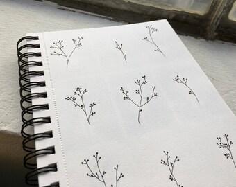 Black Branches Print A5