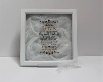 Memorial Gift, Memorial frame, Bereavement Gift, remembrance Gift, Personalised memorial Gift, Condolence gift, sympathy gift, those we love