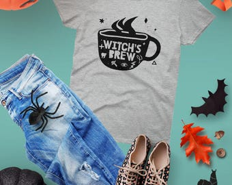 Coffee Shirt, Witch Shirt, Halloween Shirt, Halloween Party Shirt, Starbucks Shirt, Coffee Shirt, Goth Gift, Caffeine, Witch's Brew