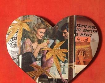 """Analog Collage Valentine Original """"XXX"""""""