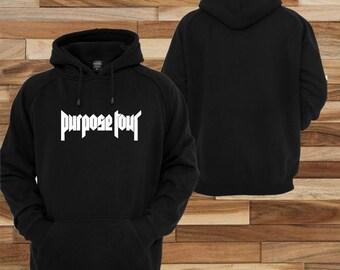 Justin bieber Purpose tour life ; sweatshirt jacket Hoodie pull over