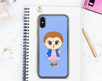 Stranger Things iPhone Case, Eleven phone case, iPhone 8 plus case, iPhone X case, iPhone 6 case, iPhone 7 case, iPhone 7 plus case