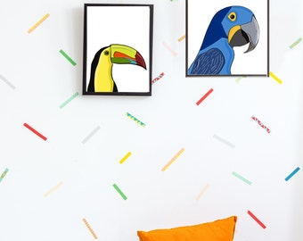 A4 Parrot Print