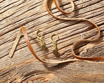 Gold Pine Cone Earrings | Woodlands Collection