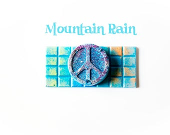 Mountain Rain Wax Melts (3 Oz.) - Peace Sign Wax Melts - Hippie Melts - Fresh Scented Wax Melts - Wax Tarts - Hand Poured Wax - Melts - Wax