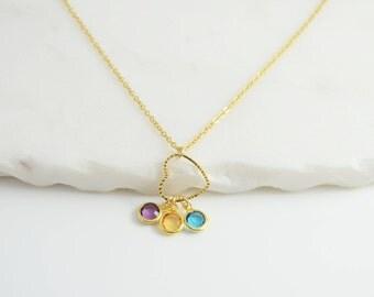 Grandma Necklace, Mom Birthstone Necklace, Mom Necklace, Personalized Mothers Necklace, Birthstone Necklace for mom,  Necklace for Grandma