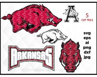 Arkansas Razorbacks Svg,Razorbacks Svg,University of Arkansas,Hogs Svg,Arkansas university,Razorbacks hogs,Shirt,Decal,Glass,Silhouette