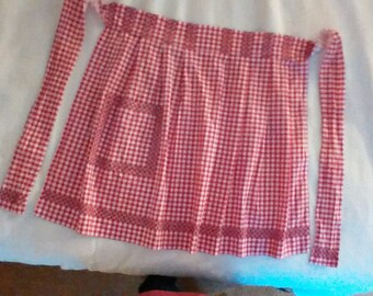 A Lovely Vintage Red and White Checkered Apron