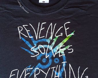 "Dishonored Handpainted Shirt Outsider Mark Woman Man ""Revenge solves everything"" & ""Take back what's yours"" Videogame Shirt"