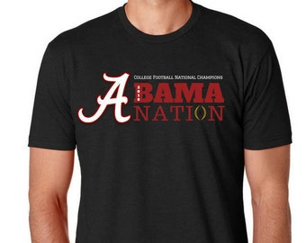 National Champions- Alabama T Shirt - Alabama Crimson Tide -  Alabama Crimson Tide  - university alabama- Roll Tide Shirt