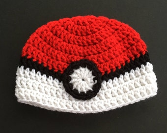 baby character hat inspired by pokemon, 6-9 month crochet hat, pokemon crochet beanie, pokemon gifts, baby pokemon hat