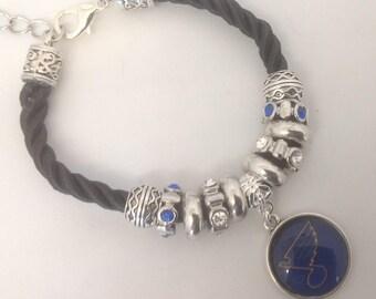 St Louis Blues Hockey Bracelet