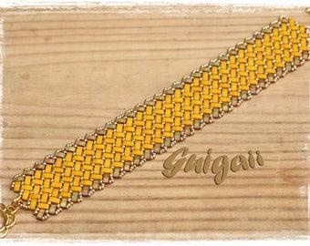 Azteca mustard bracelet