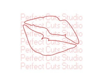 Lips SVG and Studio 3 Cut File for Cricut Silhouette Brother Files Kiss Cute Cutouts Cutout Stencil Valentine Downloads Stencils SVGs