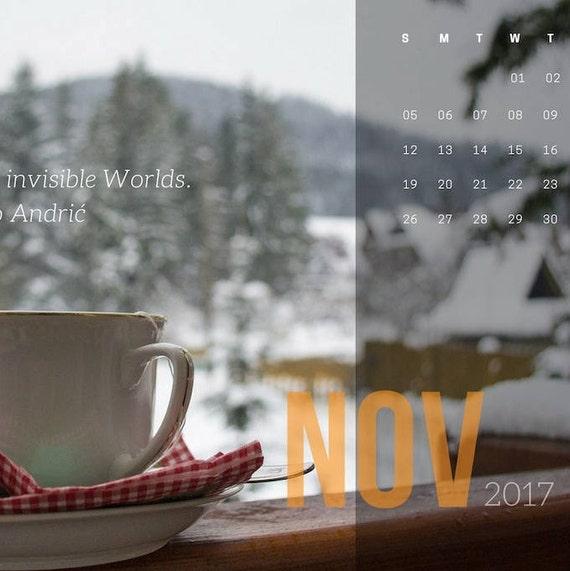 November 2017 Desktop Wallpaper Calendar