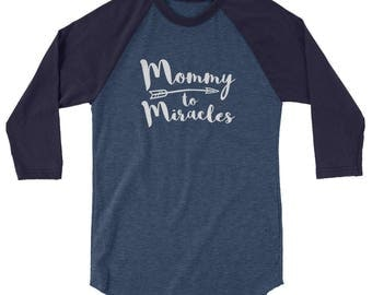 Mommy to Miracles Baseball Tee