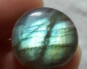 Labradoite natural plain round shape cabochon -16mm x 7mm -STK-21-LBDL-06