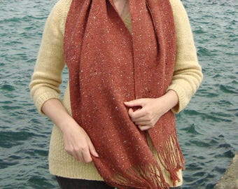 Womens fashion scarf / Long scarf /Merino Wool Scarf/ Handwoven Scarf / Wool Alpaca Scarf / Women scarf / Tweed Scarf / Winter Women wrap