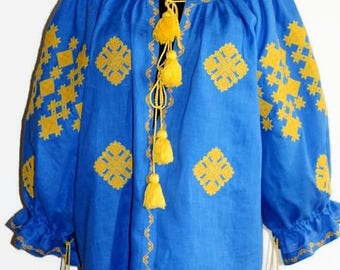 Boho Ukrainian Embroidery Vyshyvanka Mexican Blouse Bohemian Clothes Vishivanka Custom Embroidery Ethnic Ukraine Folk Embroidered Blouses