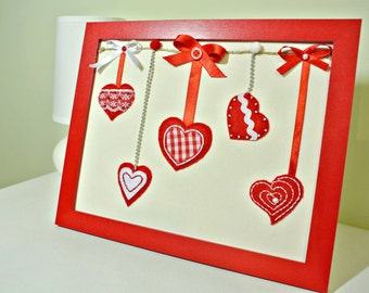 valentines day gift for her or him unique day art gifts framed felt