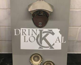 Kansas magnetic wall bottle opener