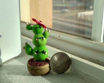 Kawaii Cute cactus in a pot
