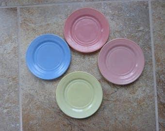 "Set of Four Hazel Atlas  6"" plates from Little Hostess Set"