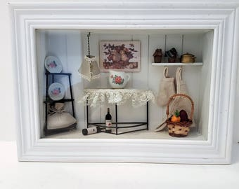 Country Living Shadow box Kitchen themed.