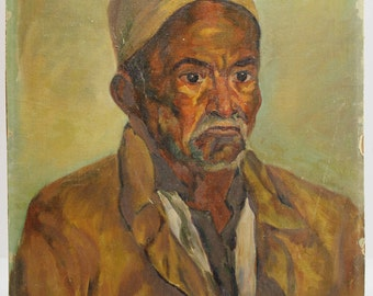 Oil painting - Old man