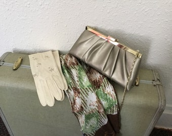 "1960's Vintage Gold ""Gunne Sax"" Clutch Purse"