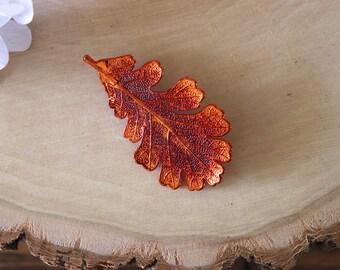 Oak Leaf Brooch Silver, Real Leaf Pin, Real Leaf, Lacey Oak Leaf, Leaf Brooch, Silver Leaf, BROOCH60