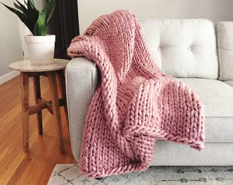 Oversized Chunky Knit Throw - Made to Order