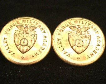 Pair of Valley Forge Military Academy Dress Uniform Buttons