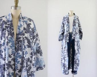 indigo forest kimono duster / one size