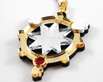 CardCaptor Sakura Clear Wand Clow Key Acrylic Necklace