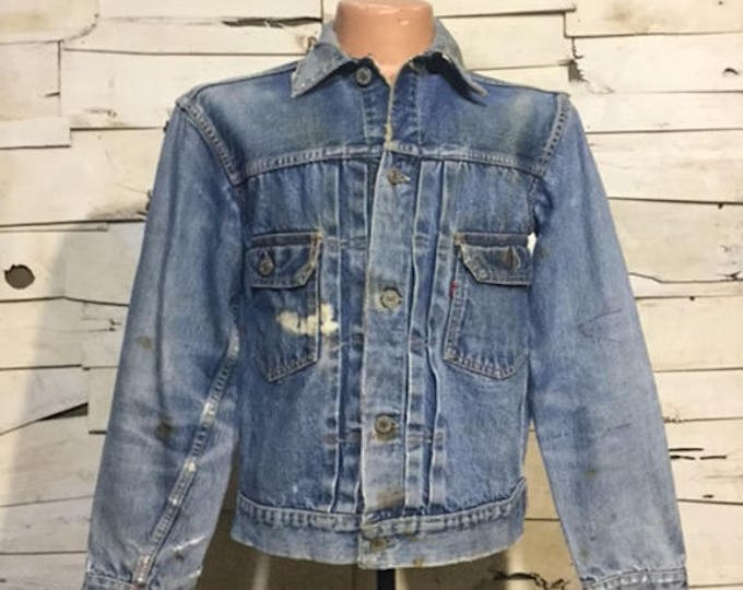 Vintage 50's Levi's 507XX Second/ Type-2 Big E Men's Small (ps-dj-7)