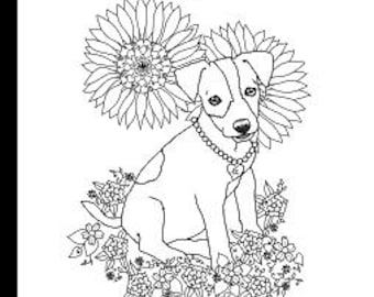 Art Of Jack Russell Terrier Coloring Book Volume No 1