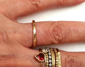 Wedding Band Ring, Engagement 14k Gold Ring, Men Ring, Promise Ring, Women Ring, Handmade, Bridal Jewelry