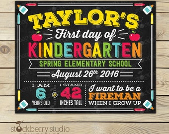 First Day of School Sign - First Day of School Chalkboard Sign - First Day Kindergarten Sign - 1st Day of School Sign - Back to School Sign